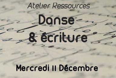 Danse & écriture - Atelier Ressources 11/12
